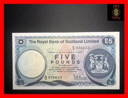 SCOTLAND 5 £  5.1.1972  P. 342  RBS   AU \ UNC - 5 Pounds
