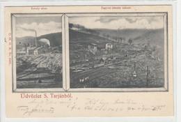Salgótarján 1899  , Károly Akna , Bergbau , Mining ,  Bahnhof , Branch Line ,Gleisanschluss ,embranchement Ferroviaire - Ungheria