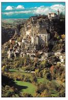 46 Rocamadour Le Site Du Merveilleux Village Accroché à Flanc De Falaise Dans Les Gorges De L'Alzou (carte Vierge) - Rocamadour