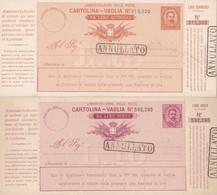 2 Scans Cartolina Vaglia Da Lire Due Annulatto - Entero Postal