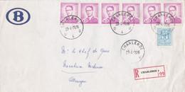 Enveloppe Service SNCB Recommandé Charleroi 4 61 51 - Dienstpost