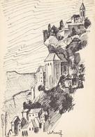 46 Rocamadour Visage De La Cité (carte Vierge) - Rocamadour