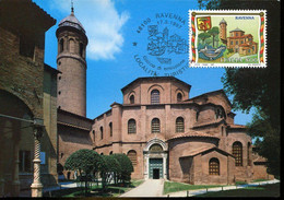 60780  Italia,  Maximum 1997, Ravenna, St. Vitale Basilica, Basilica San Vitale,  Architecture - Maximumkaarten