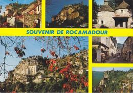 46 Rocamadour La Porte Du Figuier Vue Générale Office Du Tourisme Rue Principale (carte Vierge) - Rocamadour