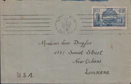 PARIS - XVII - RUE DUC - N°400 SEUL SUR LETTRE POUR LES USA - 15-9-1938. - 1921-1960: Modern Tijdperk