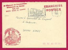Enveloppe Datée De 1984 - Landes - Mont De Marsan - Tampon Du 6ème Régiment De Parachutistes D'Infanterie De Marine - Sellos Militares Desde 1900 (fuera De La Guerra)