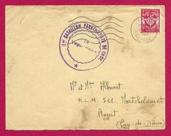 Deux Enveloppes En Franchise Militaire - Corse - Calvi - Tampons Du 1er Bataillon Parachutiste De Choc - Military Postmarks From 1900 (out Of Wars Periods)