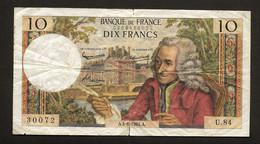 """10 Francs """"VOLTAIRE""""   4   6   1964    TB - 10 F 1963-1973 ''Voltaire''"""