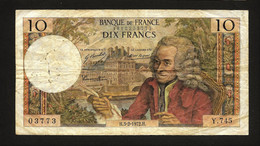 """10 Francs """"VOLTAIRE""""   8  5   1970    TB - 10 F 1963-1973 ''Voltaire''"""