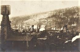 UKRAINE - PHOTO FORMAT 15,5 X 23,5 - BORYSLAW - BASSIN MINIER PUITS DE MINE - PHOTOGRAPHE W. RUSS A BORYSLAW 1923 - Ukraine