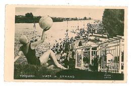 RO 10 - 1926 TIMISOARA, Romania, Distractie La Strand - Old Postcard, Real PHOTO - Used - 1940 - Romania