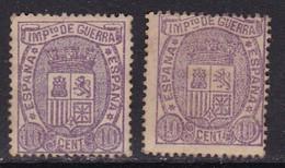 1875 - España - Impuesto De Guerra - Edifil 155 - 2 Sellos - MNH - Valor 42 € - 1931-50 Ongebruikt