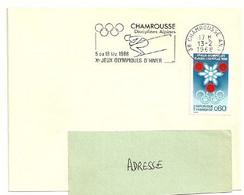 ISERE - Dépt N° 38 = CHAMROUSSE ANNEXE 1 - 1968 = FLAMME CONCORDANTE SECAP Illustrée 'Disciplines Alpines / JEUX HIVER ' - Annullamenti Meccanici (pubblicitari)