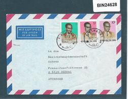 ZAIRE   - MULTI STAMP  COVER  KINSHASA TO AUSTRIA -   24628 - 1971-79: Gebraucht
