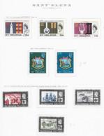 94763) SANT'ELENA-LOTTO DI FRANCOBOLLI- 1966  ELISABETTA II-USATI - Otros