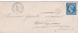 N° 22 S / L Avec Texte T.P. Ob GC 3856 + T 15 ST SEVER CALVADOS 21 Aout 64 + BT E ( Landelles) Ind Baudot 32 Soit 3500€ - 1862 Napoleone III