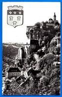 CPSM Rocamadour Vue Generale 1956 Carte Voyagé Non Animé Petit Prix Dept 46 - Rocamadour