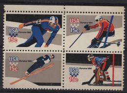 SKI 19 - ETATS-UNIS N° 1263a/1266a Neufs** J.O. Lake Placid - Unused Stamps