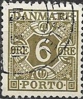 DENMARK 1934 Postage Due - 6ore - Green FU - Port Dû (Taxe)