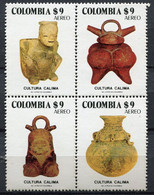 Colombie - 1981 - Yt PA 686/689 - Poteries Culture Calima - ** - Colombia