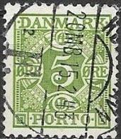 DENMARK 1934 Postage Due - 5ore - Green FU - Port Dû (Taxe)