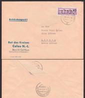 ZKD-Brief B11(6002) Calau Niederlausitz Behördenpost Rat Des Kreises, Germany East - Service