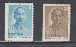 Vietnam Nord 1957 - 67th Birthday Of Ho Chi Minh, Mi-Nr. 59, 60, Used - Vietnam
