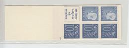 Sweden Slot-Machine Booklet 1962 - Facit  HA 11 B OH Cyl 1h MNH ** - 1951-80