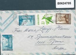Argentina  - NICE MULTI STAMP   COVER TO SWITZERLAND   - 24705 - Posta Aerea