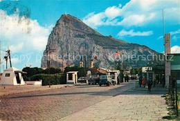 73156907 Gibraltar Felsen Mit Britischer Und Spanischer Grenze Gibraltar - Gibraltar