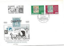 """270 - 19 - Enveloppe PEN Avec Oblit Spéciale """"Congrès ISCA"""" Champéry 1965 - Marcofilie"""
