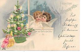 Tannenbaum, Christmas Tree, Sapin De Noël, Weihnachtsbaum, Angel, Engel, Angelo, Starry Sky, Lovely Card 1901! - Altri