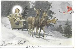 Angel, Engel, Ange, Angelo, Sled, Schlitten, Traîneau, Roe, Cerf, Deer, Reh, Hirsch, Presents, Cadeaux, Signed M.P - Altri