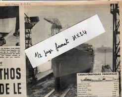 Extrait De Nord France :Dunkerque  Lancement Du Porthos ; Au Dos Miss Tourcoing ; 2  Pages , 2 + 3 Photos Format 25x32 - 1950 - Nu