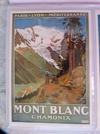 CARTE POSTALE PUBLICITE POUR LE PARIS-LYON-MEDITERRANEE - CHAMONIX-MONT-BLANC EXCURSION MER DE GLACE MONTENVERS - Otros
