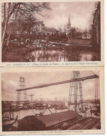 NANTES  PONT TRANSBORDEUR  1911 LOT 2 CARTES  ETANG JAEDIN DES PLANTES EGLISE ST CLEMENT - Nantes