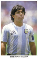 MARADONA -  Legends Of Football Series 2010 PHOTO Postcard - Size 9x14 Cm. - Entertainers