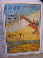 CARTE POSTALE PUBLICITE - MEETING D'AVIATION DU 9 AU 18 DEPTEMBRE 1910 A BORDEAUX - BEAU-DESERT MERIGNAC - Demonstraties