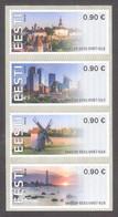 2020 Estonia MNH First ATM EE01 Stamps Set Of 4 Various Picture Visit Estonia Mi 1-4 Architecture, Lighthouse, Windmill - Estonia