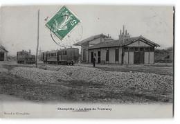 CPA 21 Champlitte La Gare Et Le Train Tramway - Other Municipalities