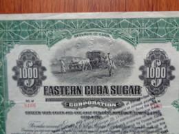 CUBA - ESTERN CUBA SUGAR - TITRE DE $ 1000 - Zonder Classificatie