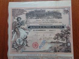 FRANCE - PARIS 1912 - STE NATIONALE DES STATIONS THERMALES - OBLIGATION DE 100 FRS - PEU COURANT - Zonder Classificatie