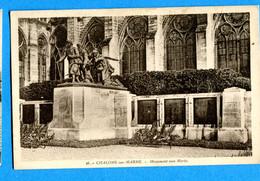 COVn1599, Chalons Sur Marne, Monument Aux Morts, 36, Circulée 1935 - Monumenti Ai Caduti