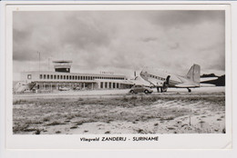 Vintage Rppc Douglas DC-3 Federal Aviation Administration - FAA @ Airport Zanderij Suriname - 1919-1938: Between Wars