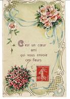 CPA- C'est Un Coeur- 1909 .Ondefontaine Par Aunay Sur Odon - Altri Comuni