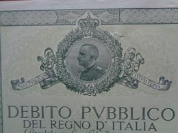 ITALIE - ROME 1934 - DEBITO PVBBLICO DEL REGNO D'ITALIA - TITRE DE 100 LIRES - Zonder Classificatie