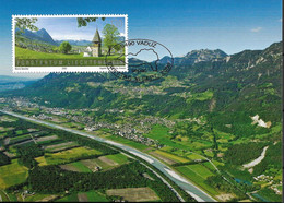 2009Liechtenstein Mi. 1532 MK  307   SEPAC: Landschaften : Oberland - Maximumkaarten