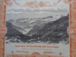 SUISSE - POSCHIAVO 1906 - AMIANTES DE POSCHIAVO - ACTION DE 100 FRS - Zonder Classificatie