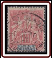 Guadeloupe 1876-1903 - N° 41 (YT) N° 41 (AM) Oblitéré De St-Claude. - Used Stamps