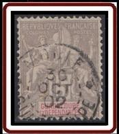 Guadeloupe 1876-1903 - N° 42 (YT) N° 42 (AM) Oblitéré De Moule. - Used Stamps